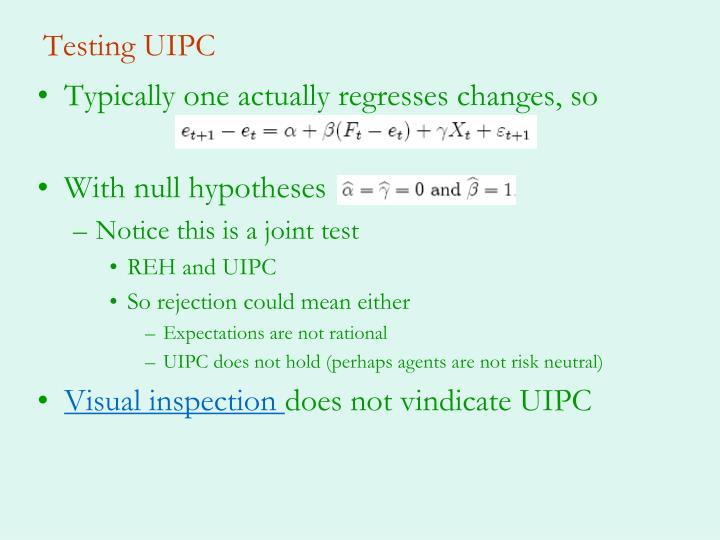 Testing UIPC