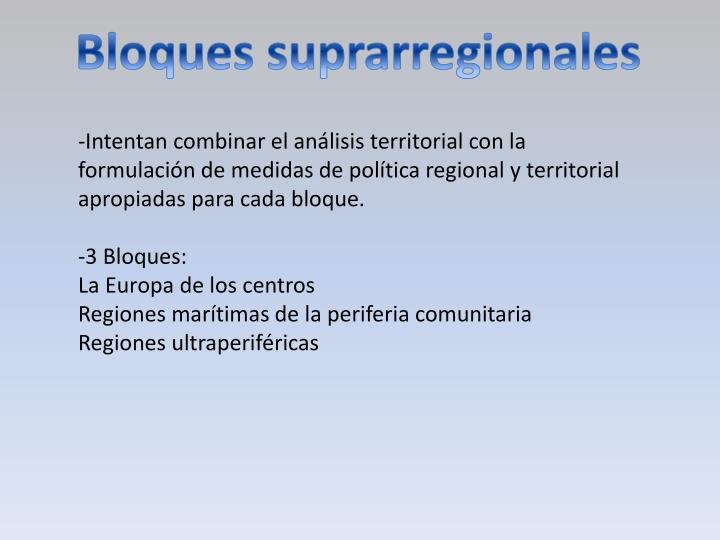 Bloques suprarregionales