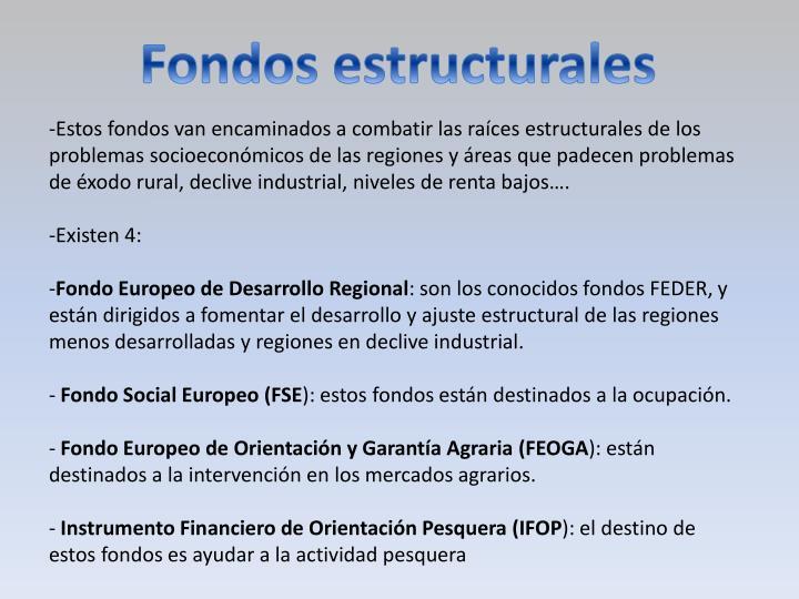 Fondos estructurales