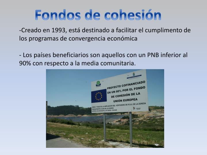 Fondos de cohesión