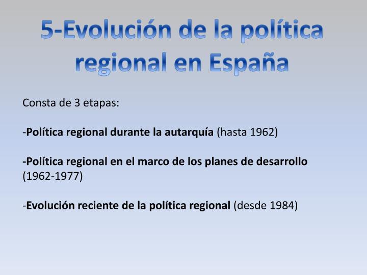 5-Evolución de la política regional en España