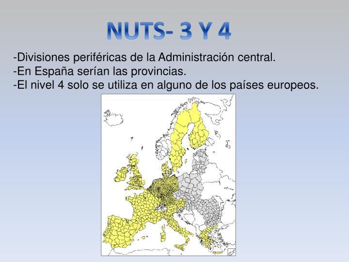 NUTS- 3 Y 4