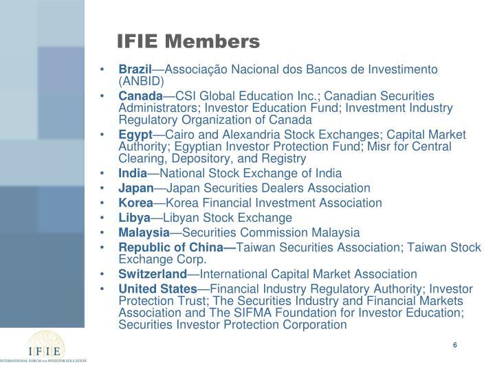 IFIE Members