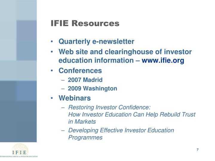 IFIE Resources