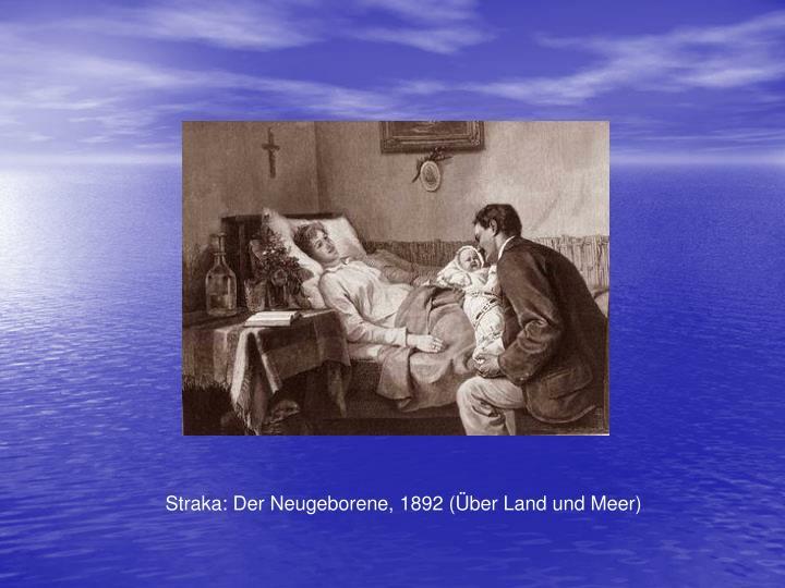 Straka: Der Neugeborene, 1892 (ber Land und Meer)