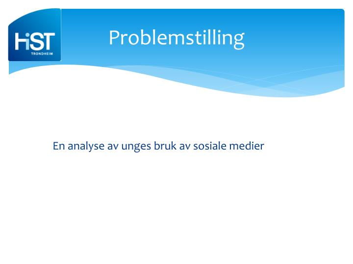 Problemstilling