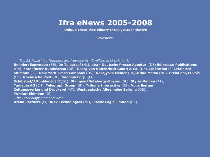 Ifra eNews 2005-2008