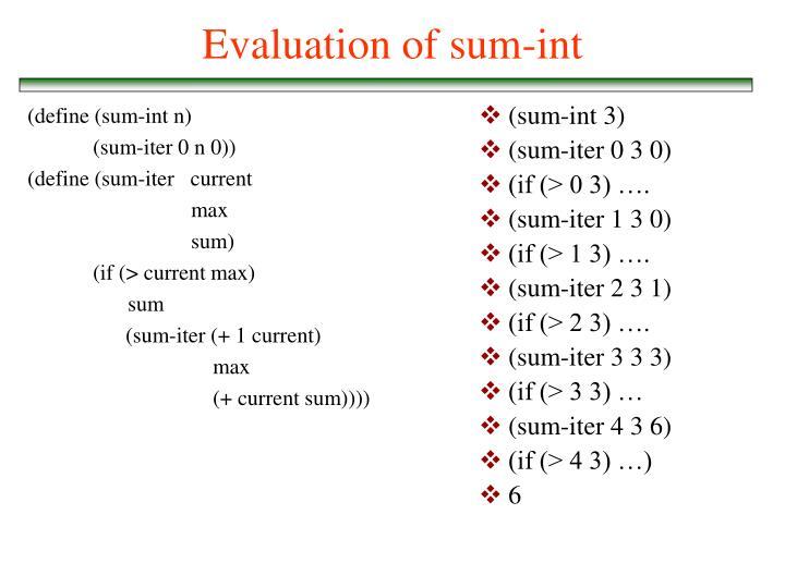 (define (sum-int n)
