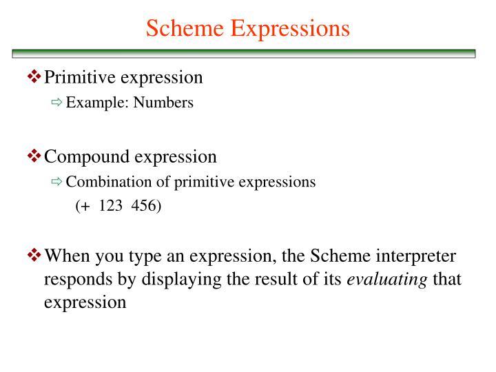 Scheme Expressions