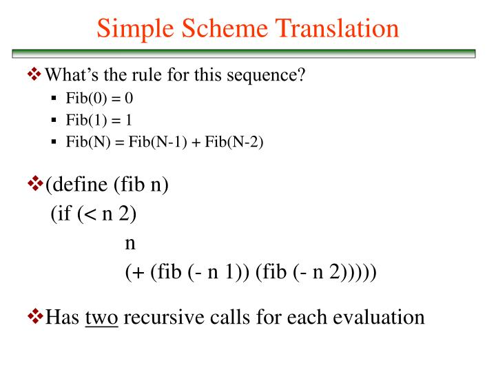 Simple Scheme Translation