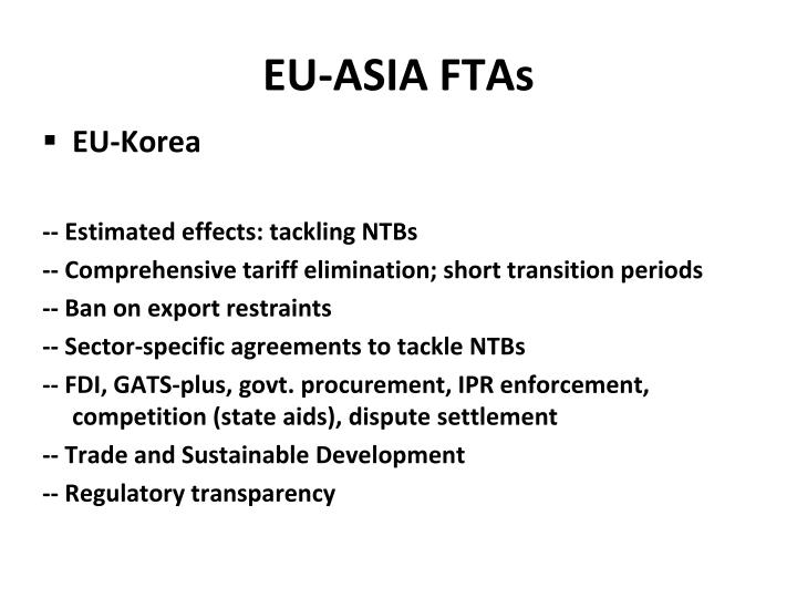 EU-ASIA FTAs