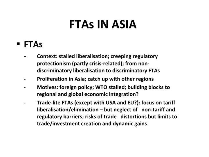 FTAs IN ASIA