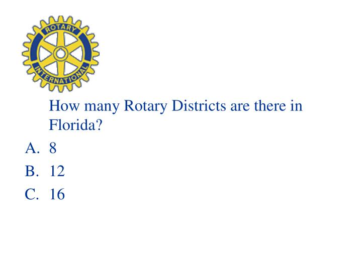 How many Rotary Districts are there in Florida?