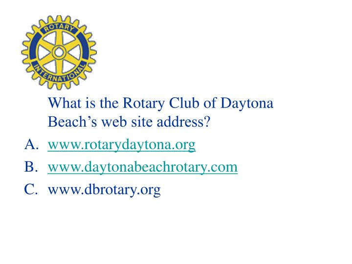 What is the Rotary Club of Daytona Beach's web site address?