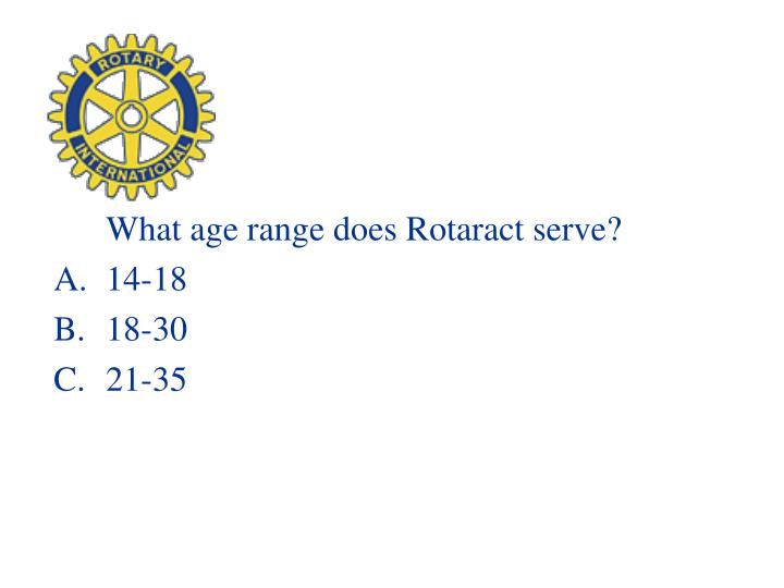 What age range does Rotaract serve?