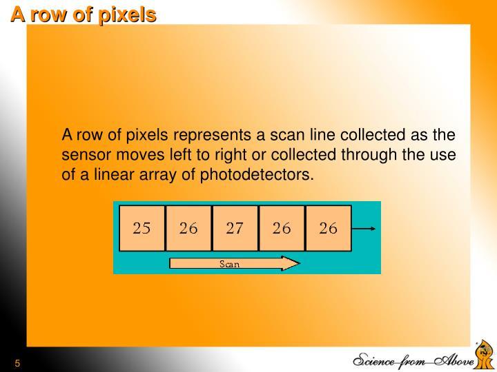 A row of pixels