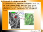 multispectral color composite