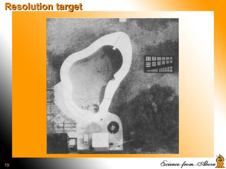 Resolution target