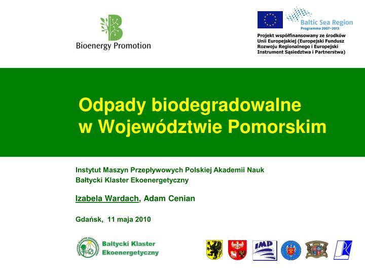 Odpady biodegradowalne