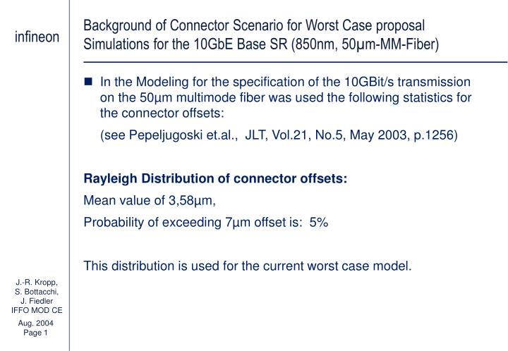 Background of Connector Scenario for Worst Case proposal