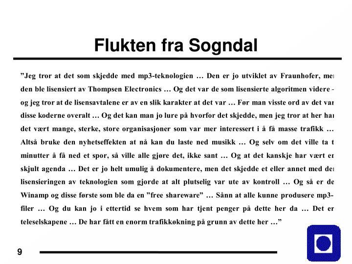 Flukten fra Sogndal