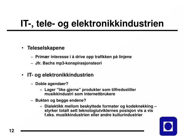 IT-, tele- og elektronikkindustrien