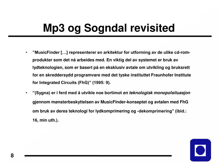 Mp3 og Sogndal revisited