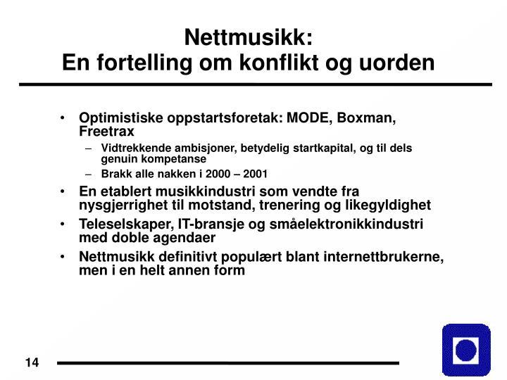 Nettmusikk: