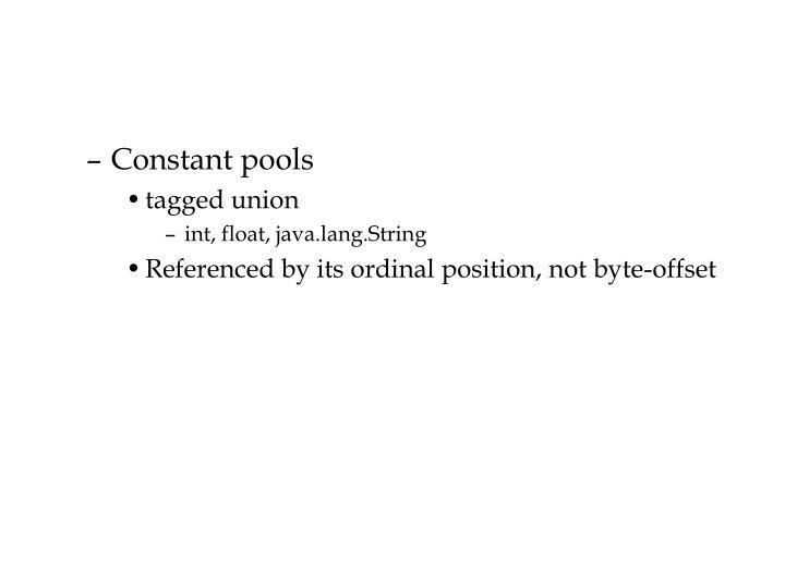 Constant pools