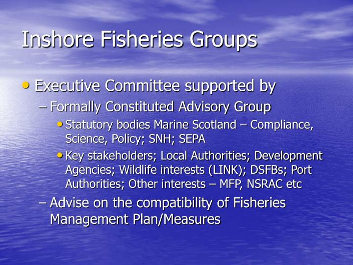 Inshore Fisheries Groups