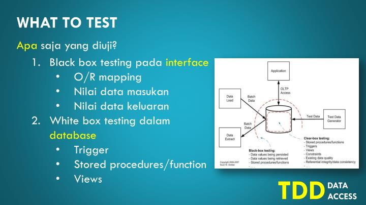 What to test