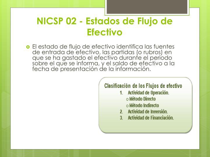 NICSP 02 - Estados de Flujo de Efectivo