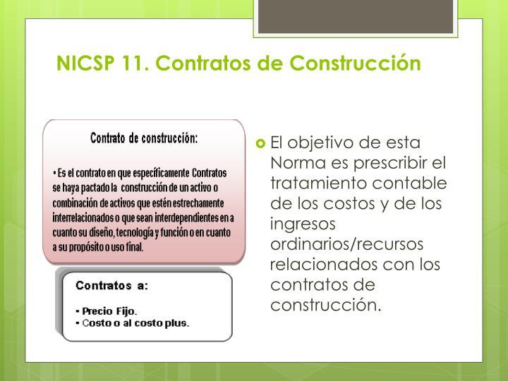 NICSP 11. Contratos de Construcción