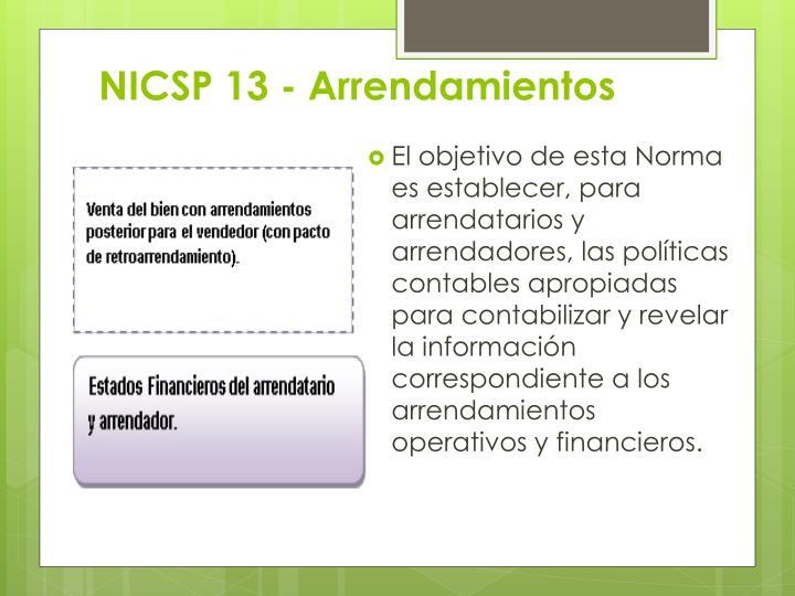 NICSP 13 - Arrendamientos