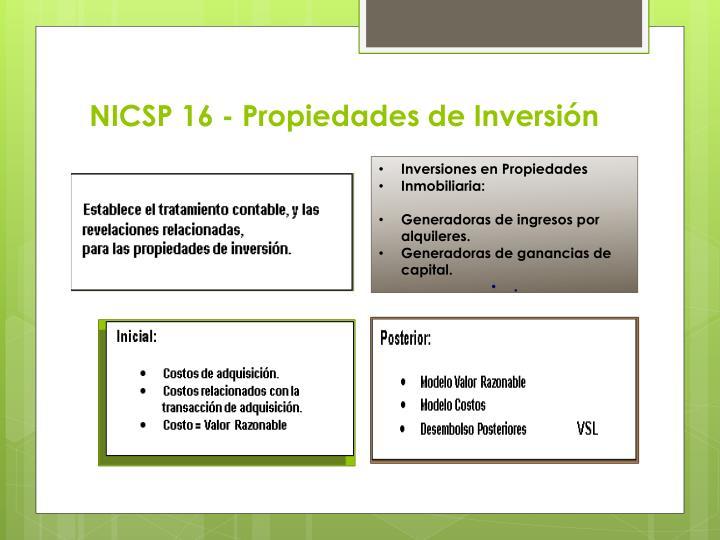 NICSP 16 - Propiedades de Inversión