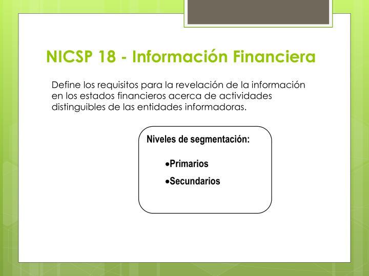 NICSP 18 - Información Financiera