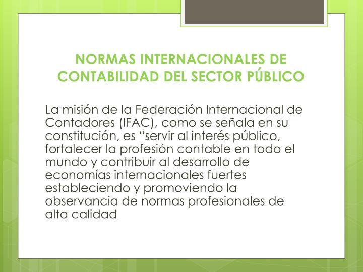 NORMAS INTERNACIONALES DE