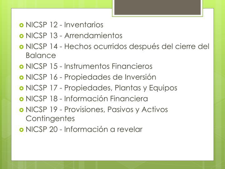 NICSP 12 - Inventarios