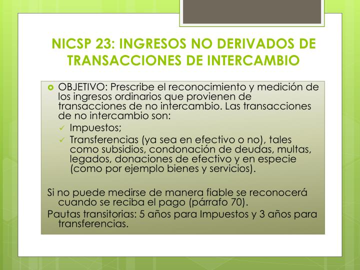 NICSP 23