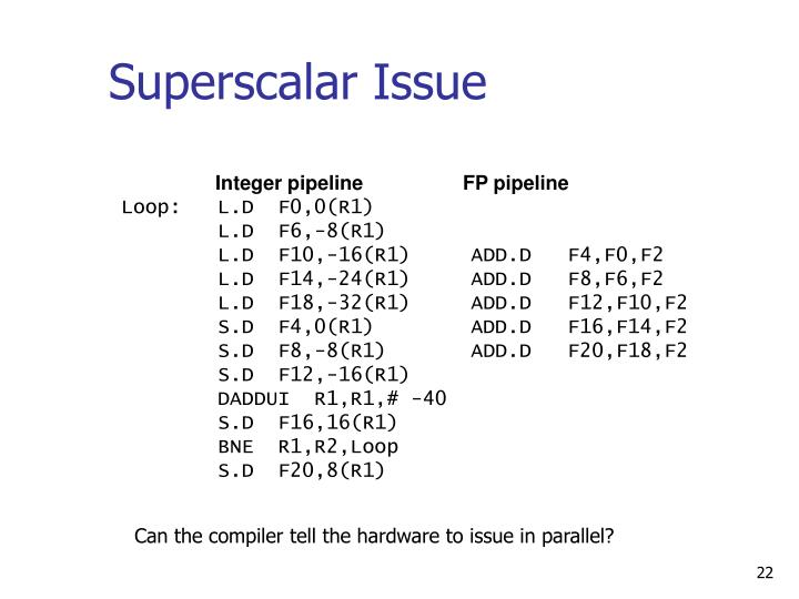 Superscalar Issue