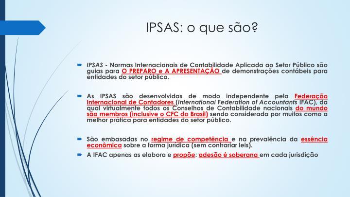 IPSAS: o que são?
