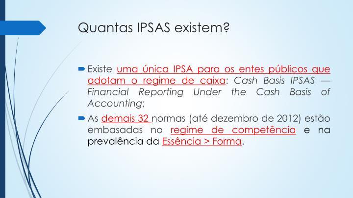 Quantas IPSAS existem?