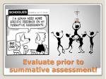 evaluate prior to summative assessment