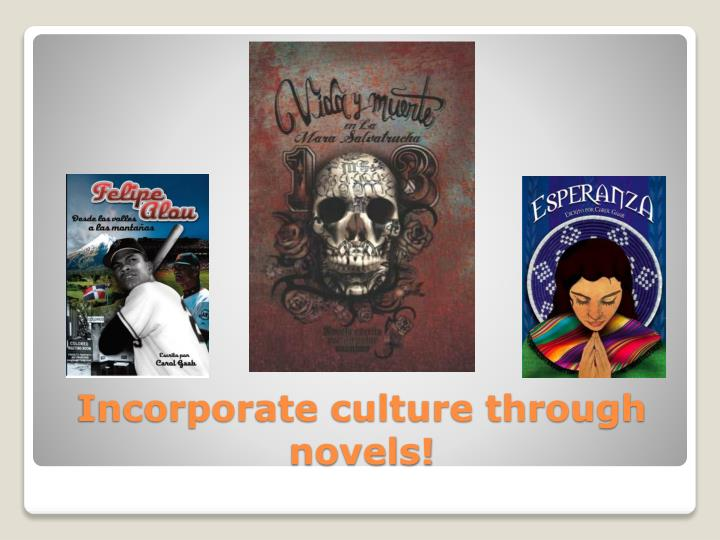 Incorporate culture through novels!