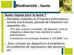 biodiversit faune