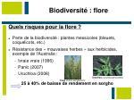 biodiversit flore