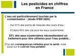 les pesticides en chiffres en france