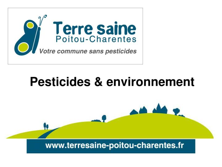 Pesticides & environnement