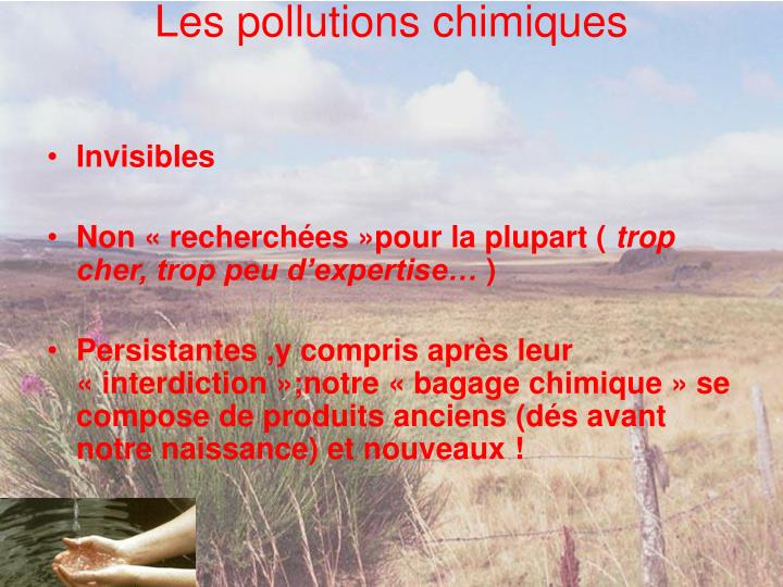 Les pollutions chimiques