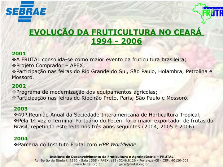 EVOLUÇÃO DA FRUTICULTURA NO CEARÁ